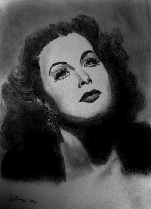 Hedy Lamarr by Lindasart